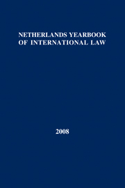 Netherlands Yearbook of International Law - Volume 39, 2008