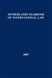 Netherlands Yearbook of International Law - Volume 38, 2007