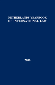 Netherlands Yearbook of International Law - Volume 37, 2006