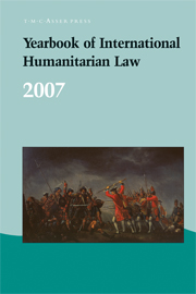 Yearbook of International Humanitarian Law - Volume 10, 2007