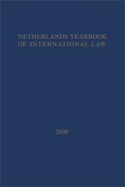 Netherlands Yearbook of International Law - Volume 31, 2000