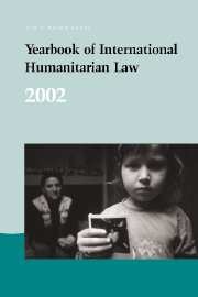Yearbook of International Humanitarian Law - Volume 5, 2002