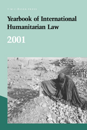 Yearbook of International Humanitarian Law - Volume 4, 2001