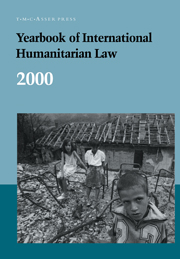 Yearbook of International Humanitarian Law - Volume 3, 2000