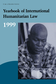 Yearbook of International Humanitarian Law - Volume 2, 1999