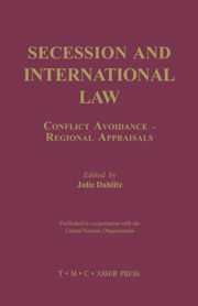 Secession and International Law - Conflict Avoidance - Regional Appraisals