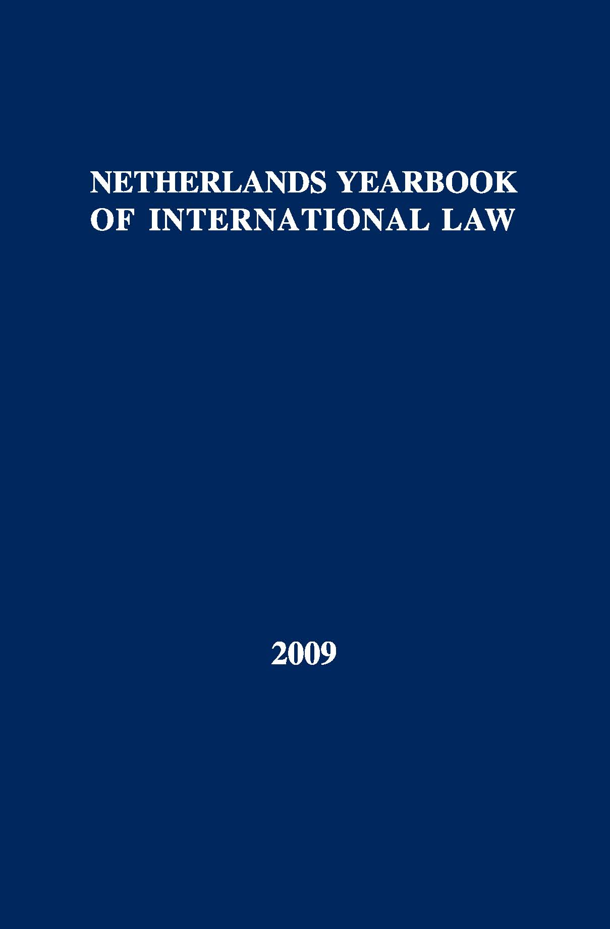 Netherlands Yearbook of International Law - Volume 40, 2009